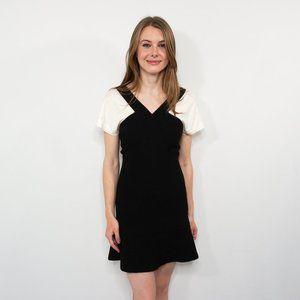 SANDRO Paris Black & White Contrast Mini Dress